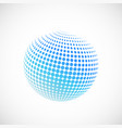 halftone blue spheres vector image