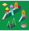 Isometric Children Playground Elements vector image vector image