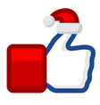 Like icon with Santa Claus hat vector image