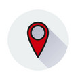 location icon on white background vector image