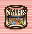 logo for sweets vector image