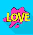 love icon pop art style vector image vector image