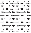 Love seamless pattern romantic hearts and arrows vector image vector image
