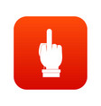 middle finger hand sign icon digital red vector image vector image