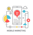 mobile marketing concept vector image vector image