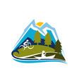 mountain sport logo design template vector image vector image