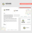 nuclear business letterhead envelope and visiting vector image vector image