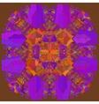 Oriental mandala motif lace vector image
