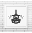 Pizza is life - Quote typographical Background vector image vector image