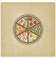 pizza old background vector image vector image