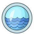porthole window of sailing ships icon vector image