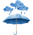 Protection against rain vector image vector image