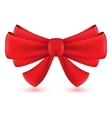 Red isolated bow vector image