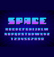 retro font in the style of 80s uppercase letters vector image vector image