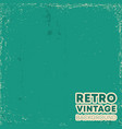 retro vintage design background with grunge vector image