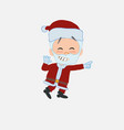 santa claus pointing to something funny on his vector image vector image