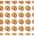 seamless pattern with delicious pretzel vector image vector image
