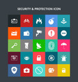 security and protection icons vector image