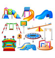 set collection kids playground city park set vector image vector image