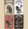 set of barber shop poster templates design vector image vector image