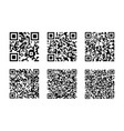 set of qr code isolated on white background vector image