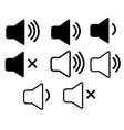 set speaker icon on white background speaker vector image vector image