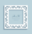 square frame with cutout paper border vector image vector image
