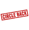 square grunge red circle back stamp vector image vector image
