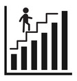 successful business graph icon on white vector image vector image