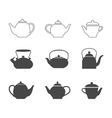 tea pots set vector image vector image