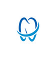 tooth logo icon template vector image vector image