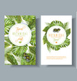 tropical vertical banners vector image vector image