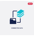 two color connected data icon from business and vector image vector image