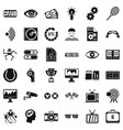 video film icons set simple style vector image vector image