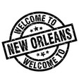 welcome to new orleans black stamp vector image vector image