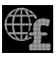 white halftone global pound economics icon vector image vector image