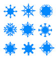 winter blue christmas snow flat crystal element vector image vector image