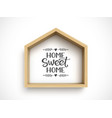 wooden house frame on white background real vector image