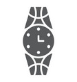 wristwatch glyph icon clock and accessory watch vector image vector image