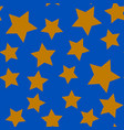 seamless pattern with gold stars vector image