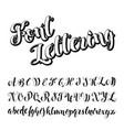 brush script calligraphy symbols vector image