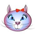 Pretty cat vector image