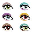 make up eyes vector image