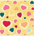 seamless texture with funny hearts vector image