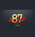 87th year anniversary background vector image vector image