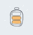 a battery middle icon isolated symbol vector image