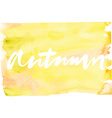 Autumn Abstract background Watercolor vector image