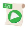 AVI icon cartoon style vector image vector image