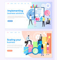 business solutions and scaling startup success vector image vector image