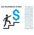 Business Stairs Icon with Flat Set vector image vector image